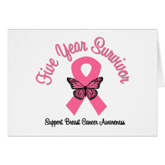 Breast Cancer 5 Year Survivor Greeting Cards