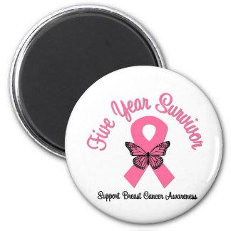 Breast Cancer 5 Year Survivor Refrigerator Magnets