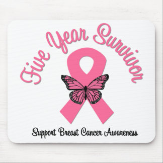 Breast Cancer 5 Year Survivor Mouse Pads