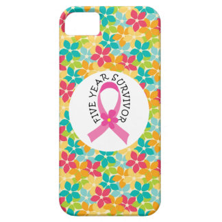 Breast Cancer 5 Year Survivor Pink Ribbon iPhone SE/5/5s Case