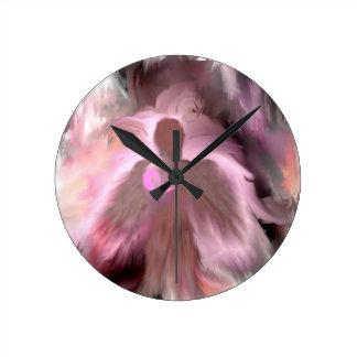 Breast Cancer Angel Round Wall Clock