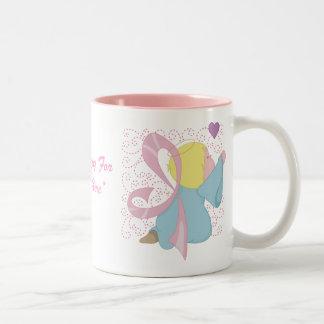Breast Cancer Angel Customizable Mug