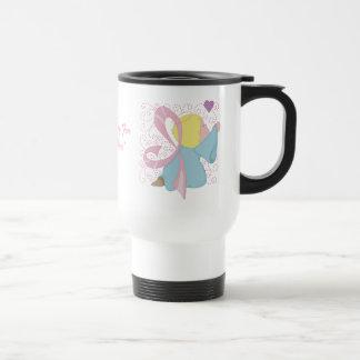 Breast Cancer Angel Customizable Travel Mug