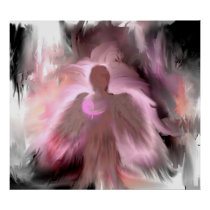 Breast Cancer Angel Poster