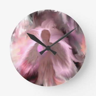 Breast Cancer Angel Round Clock