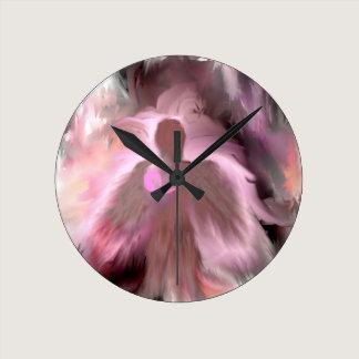 Breast Cancer Angel Round Clock