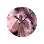 Breast Cancer Angel Round Clocks