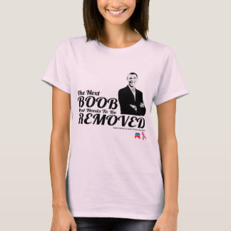BREAST CANCER ANTI-OBAMA CONSERVATIVE AWARENESS T-Shirt