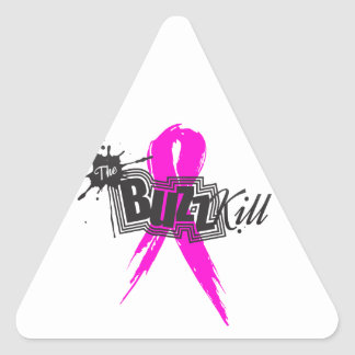 Breast Cancer Awareness 2013 Triangle Stickers