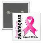 Breast Cancer Awareness 5 2 Inch Square Button