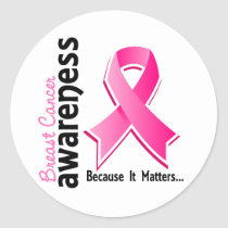 Breast Cancer Awareness 5 Classic Round Sticker