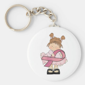 Breast Cancer awareness accessories and gifts Basic Round Button Keychain