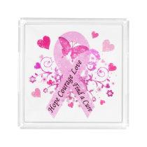Breast Cancer Awareness Acrylic Tray