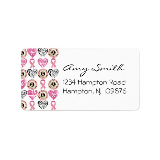breast cancer return address label