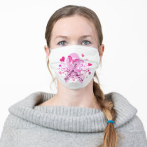Breast Cancer Awareness Adult Cloth Face Mask