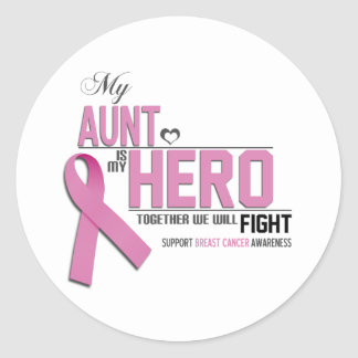 Breast Cancer Awareness: aunt Classic Round Sticker