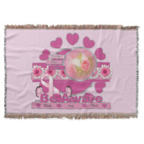 Breast Cancer Awareness Be Aware Throw Blanket