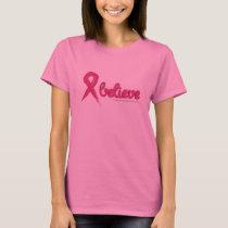 Breast Cancer Awareness Believe T-Shirt