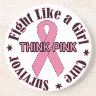 Breast Cancer Awareness Beverage Coaster