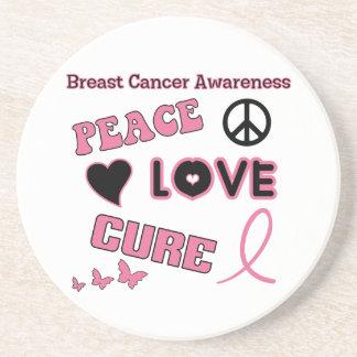 Breast Cancer Awareness Beverage Coasters
