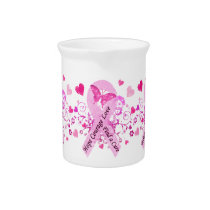 Breast Cancer Awareness Beverage Pitcher