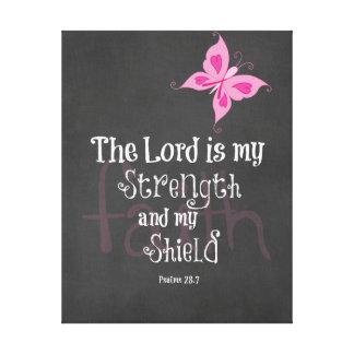 Breast Cancer Awareness Bible Verse Canvas Print