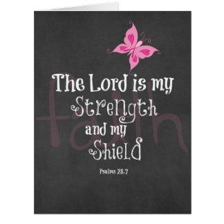 Breast Cancer Awareness Bible Verse Card