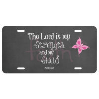 Breast Cancer Awareness Bible Verse License Plate