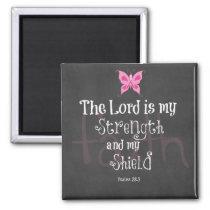 Breast Cancer Awareness Bible Verse Magnet