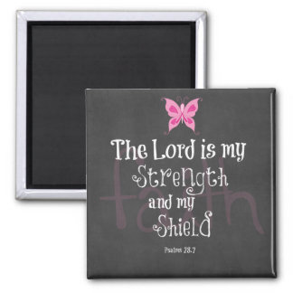 Breast Cancer Awareness Bible Verse Magnet
