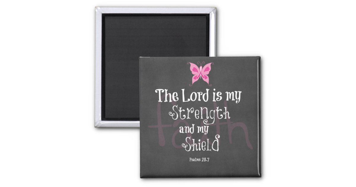 Breast Cancer Awareness Bible Verse Magnet Zazzle Com