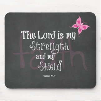 Breast Cancer Awareness Bible Verse Mouse Pad
