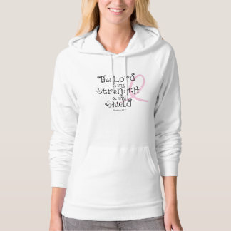 Breast Cancer Awareness Bible Verse Pink Ribbon Hoodie