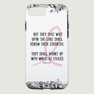 Breast Cancer Awareness Bible Verse Pink Ribbon iPhone 7 Case