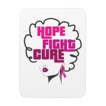Breast Cancer Awareness Black Queen Pink Ribbon Magnet