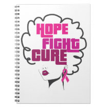 Breast Cancer Awareness Black Queen Pink Ribbon Notebook