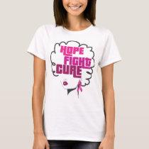 Breast Cancer Awareness Black Queen Pink Ribbon T-Shirt
