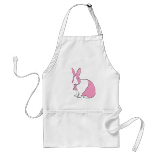 BREAST CANCER AWARENESS BUNNY ADULT APRON