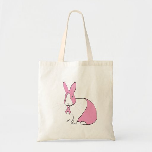 BREAST CANCER AWARENESS BUNNY BAGS