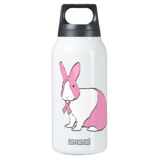 BREAST CANCER AWARENESS BUNNY INSULATED WATER BOTTLE