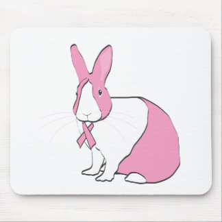 BREAST CANCER AWARENESS BUNNY MOUSE PAD