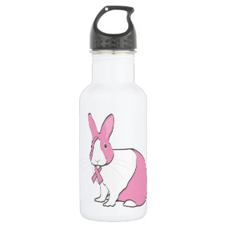 BREAST CANCER AWARENESS BUNNY WATER BOTTLE