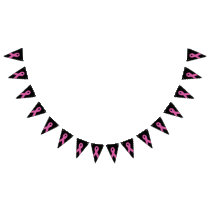 Breast cancer awareness bunting flags