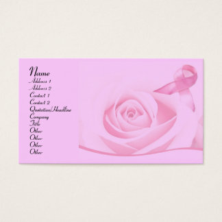 Breast Cancer Awareness Business Card
