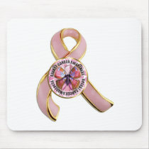 Breast Cancer Awareness Butterfly Mouse Pad