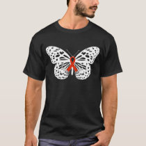 Breast cancer Awareness Butterfly Red Ribbon T-Shirt