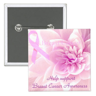Breast Cancer Awareness_ 2 Inch Square Button