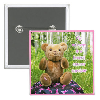 Breast Cancer Awareness Button for Kids, BC Bear