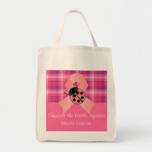 Breast Cancer Awareness Canvas Bag