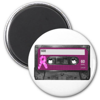 Breast Cancer Awareness Cassette 2 Inch Round Magnet